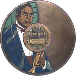 King Oliver's Gennett Walk of Fame Medallion