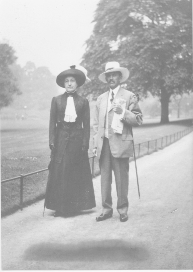 Henry and Alice Gennett in Hyde Park, London circa 1911